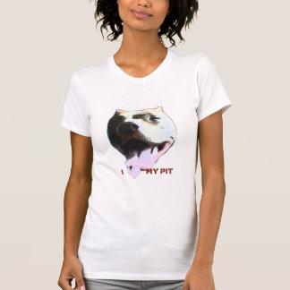 I (Heart) My Pit Ladies Petite White Tshirts