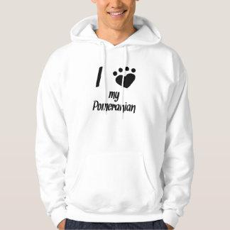 I Heart My Pomeranian Hoodie