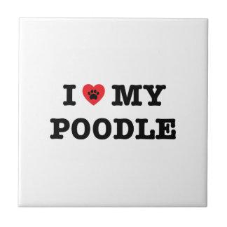I Heart My Poodle Ceramic Tile