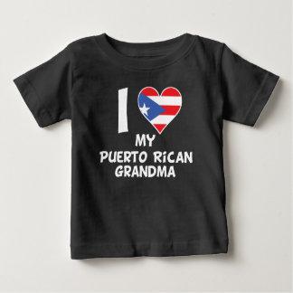 I Heart My Puerto Rican Grandma Baby T-Shirt