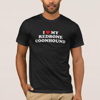 I Heart My Redbone Coonhound Dark T-Shirt