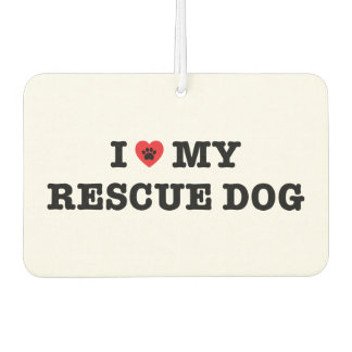 I Heart My Rescue Dog Car Air Freshener