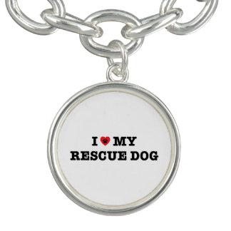 I Heart My Rescue Dog Charm Bracelet
