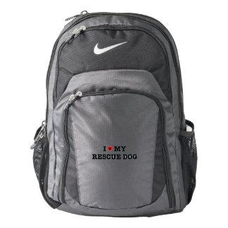 I Heart My Rescue Dog Nike Backpack