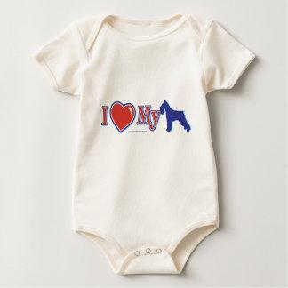 I heart my schnauzer baby bodysuit