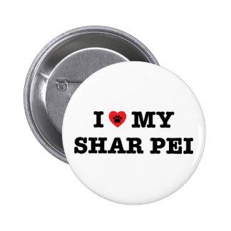 I Heart My Shar Pei Button