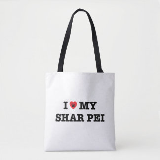 I Heart My Shar Pei Tote Bag