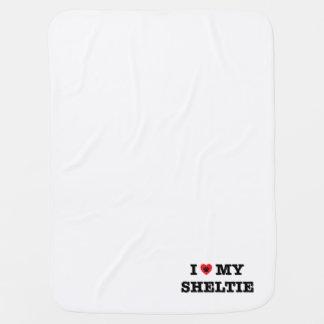 I Heart My Sheltie Baby Blanket