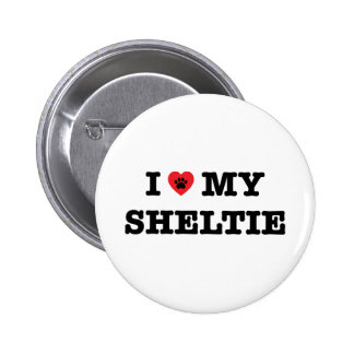 I Heart My Sheltie Button