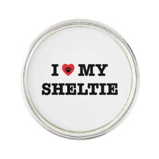 I Heart My Sheltie Lapel Pin