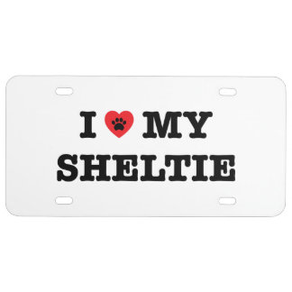I Heart My Sheltie License Plate
