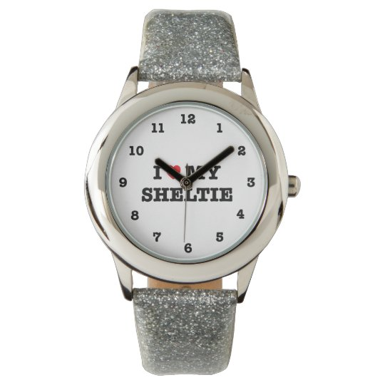 I Heart My Sheltie Numbered Wristwatch