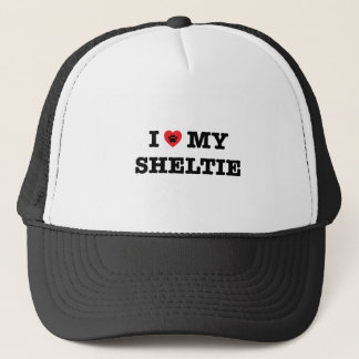 I Heart My Sheltie Trucker Hat