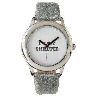 I Heart My Sheltie Wristwatch