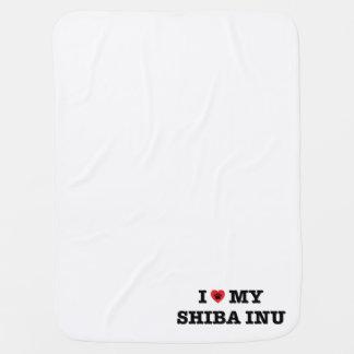 I Heart My Shiba Inu Baby Blanket