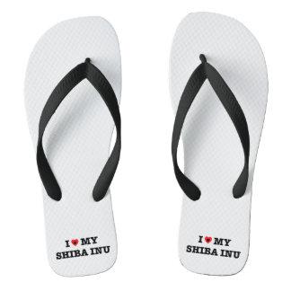 I Heart My Shiba Inu Flip Flops