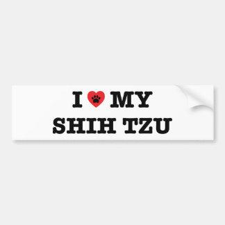 I Heart My Shih Tzu Bumper Sticker