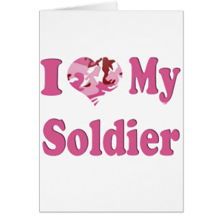 I Heart My Soldier Greeting Card