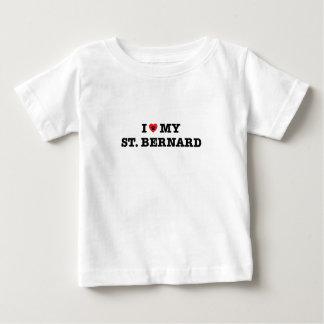 I Heart My St. Bernard Baby T-Shirt