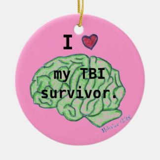 """I [heart] my TBI survivor"" ornament"
