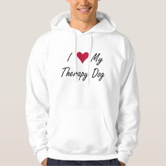 I Heart My Therapy Dog Hoodie