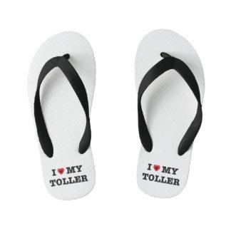 I Heart My Toller Kid's Flip Flops