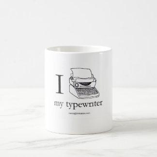 I heart my typewriter, mug