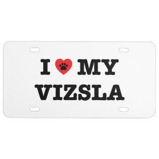 I Heart My Vizsla License Plate