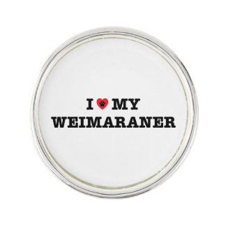 I Heart My Weimanarer Lapel Pin