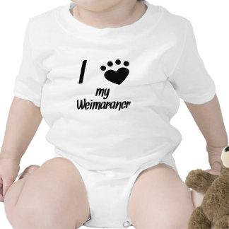 I Heart My Weimaraner Baby Bodysuit