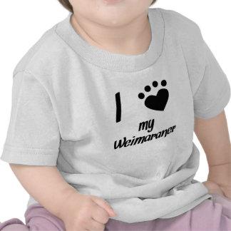 I Heart My Weimaraner T Shirts