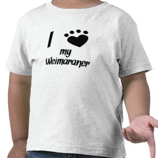 I Heart My Weimaraner Tshirts