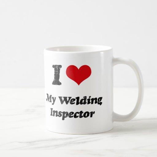 I heart My Welding Inspector Mugs