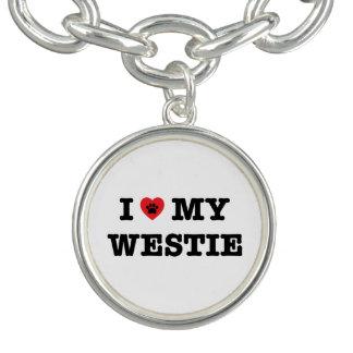 I Heart My Westie Bracelets