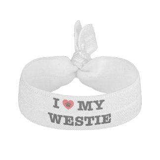 I Heart My Westie Hair Tie