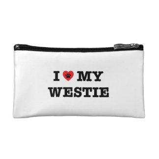 I Heart My Westie Makeup Bag