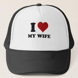 i heart my wife trucker hat