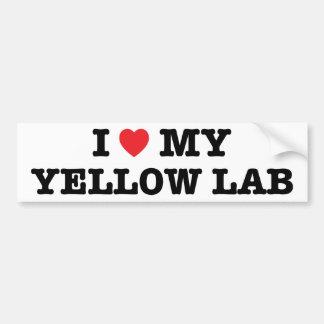 I Heart My Yellow Lab Bumper Sticker Car Bumper Sticker