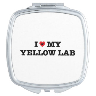 I Heart My Yellow Lab Compact Mirror