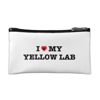 I Heart My Yellow Lab Cosmetic Bag