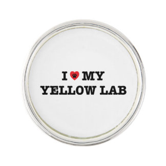 I Heart My Yellow Lab Lapel Pin