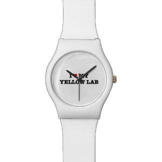 I Heart My Yellow Lab May28th Wrist Watch