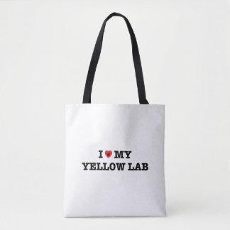 I Heart My Yellow Lab Tote Bag