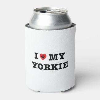 I Heart My Yorkie Can Cooler
