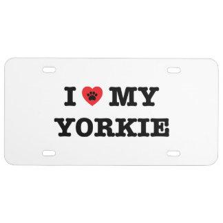 I Heart My Yorkie License Plate
