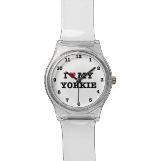 I Heart My Yorkie Numbered May28th Wrist Watch
