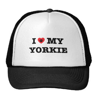 I Heart My Yorkie Trucker Hat