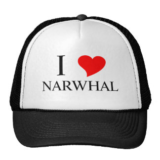 I Heart NARWHAL Mesh Hats