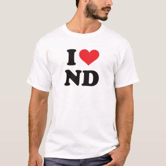 I Heart ND - North Dakota T-Shirt