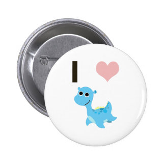 I Heart Nessie Pinback Buttons
